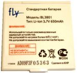 Fly M140 (BL3801) 650mAh Li-ion, оригинал